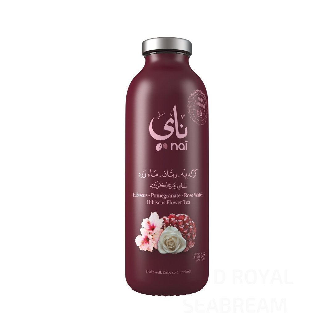 Nai Iced Tea | Hibiscus Pomegranate & Rose Water 6 x 473ml - Les Gastronomes