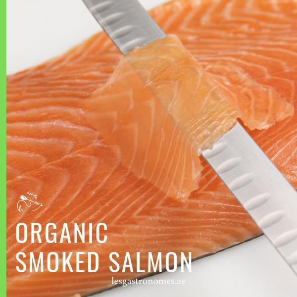 Organic Smoked Salmon Long Slice 200g - Les Gastronomes