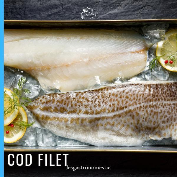 Wild Cod - Cabillaud Fillet 1kg to 1.2Kg - Les Gastronomes