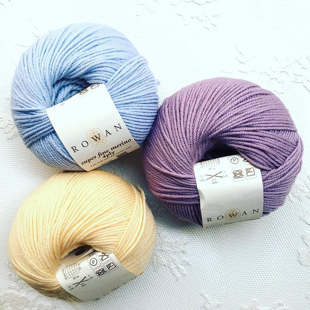 Rowan Super Fine Merino 4ply collection #rowanyarn #woolcrossing