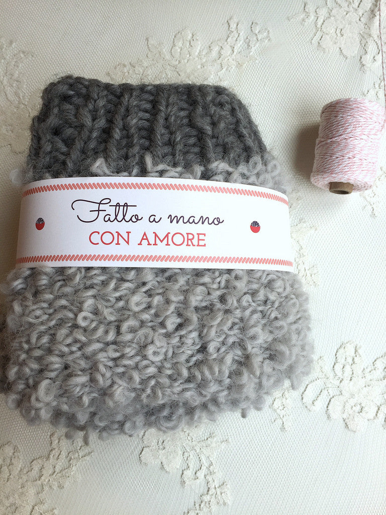 "Set ""Knit Auguri Card"" by Wool Crossing"