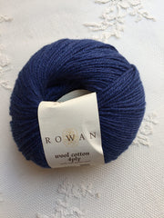 Rowan Wool Cotton 4-ply 495 Marine