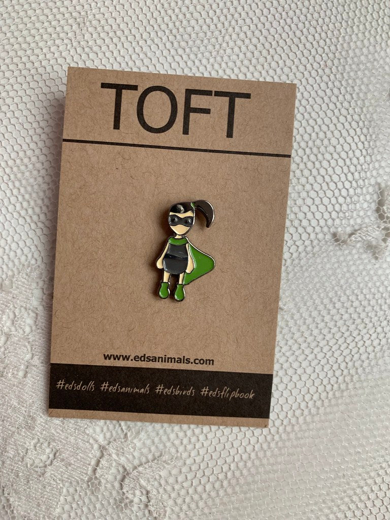 Toft pins - Superhero Doll