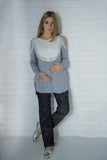 -THE COLD SHOULDER SWEATSHIRT-