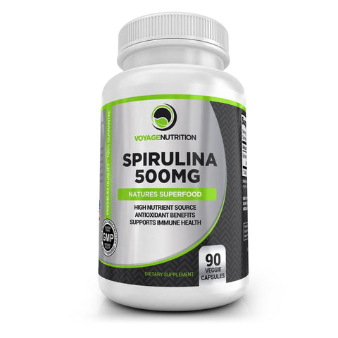1 Bottle - Spirulina 500MG Capsules - 90 Powder Capsules