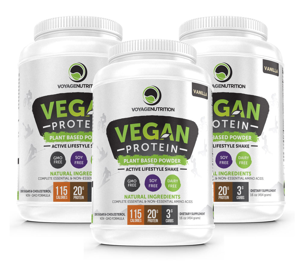 3 Containers of Tasty VANILLA Vegan Protein