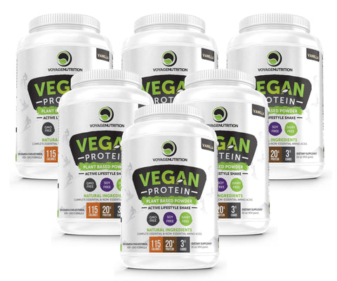 6 Containers of Tasty VANILLA Vegan Protein