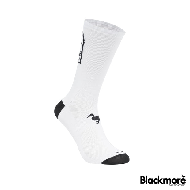 Ride Hard socks (white)