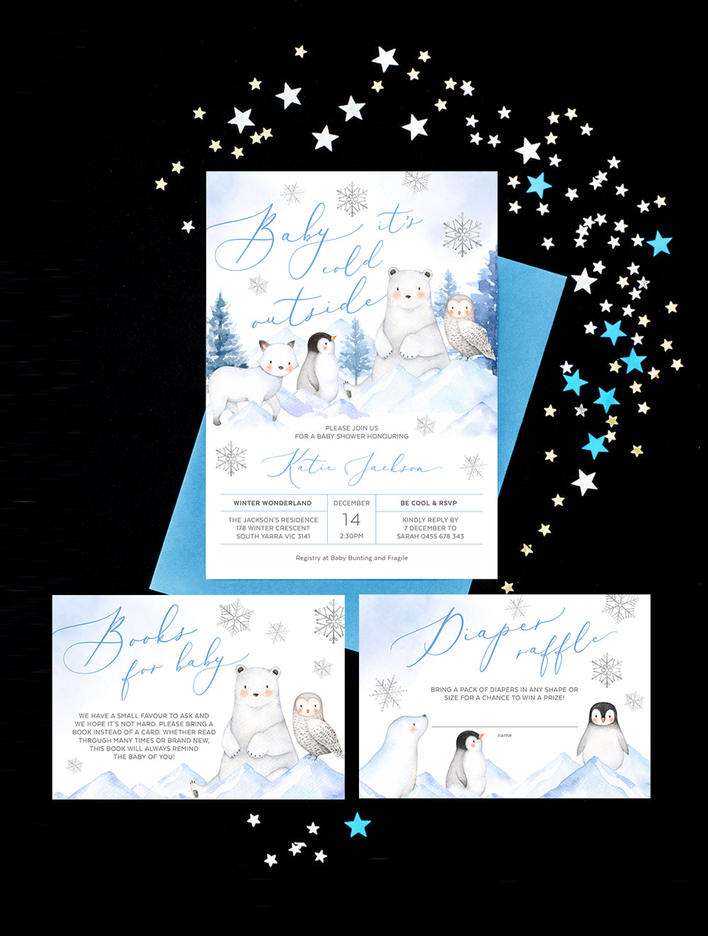 Winter Wonderland Baby Shower Invitation 3P ARCT01