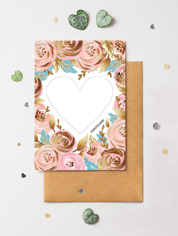 Heart Floral 1 Scratch Off Card