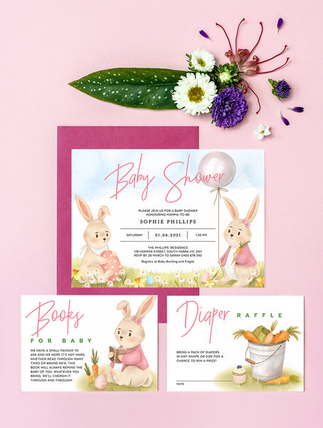 Easter Baby Shower Invitation 3P RAB01