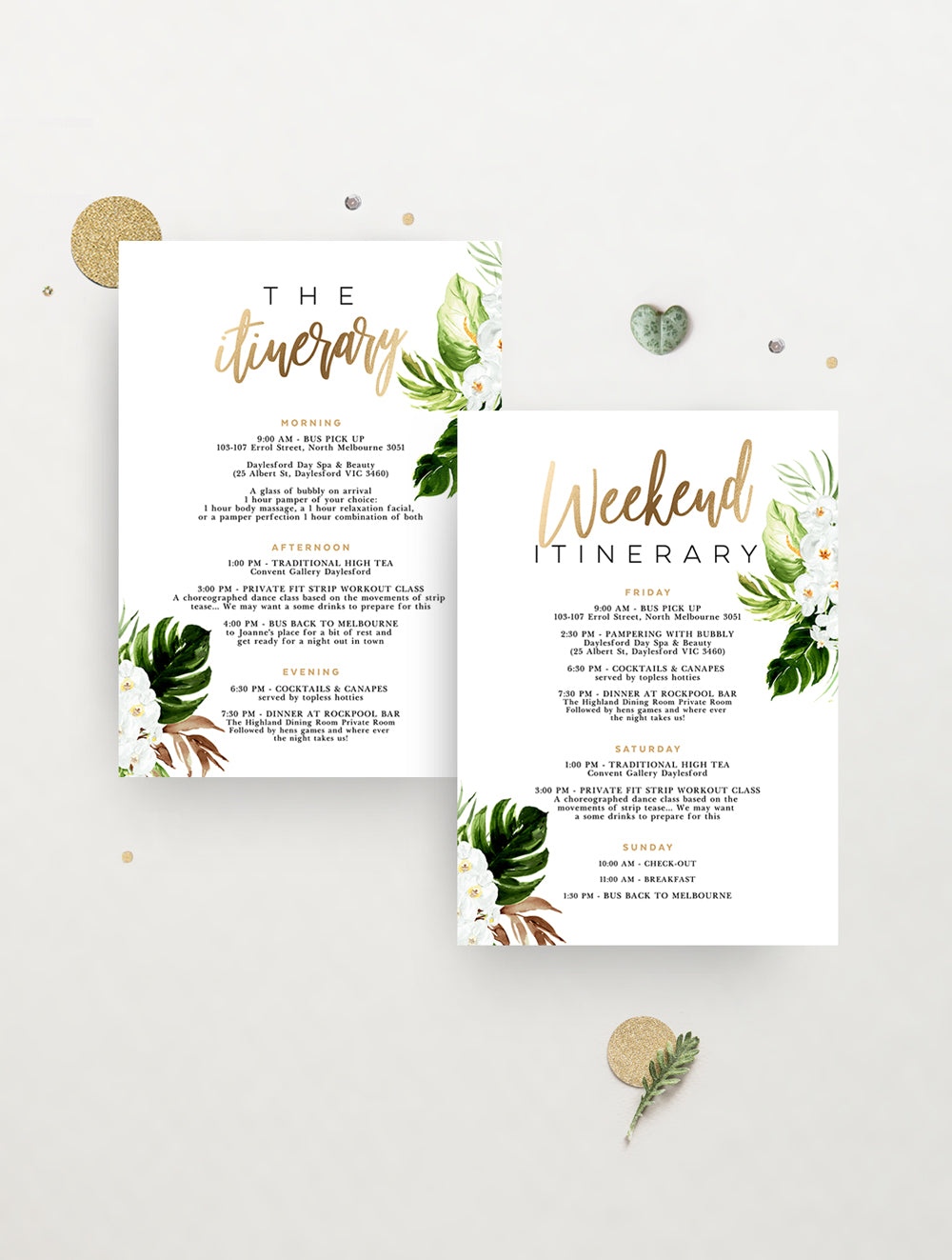 Tropical Paradise Hens Weekend Invitation #TROP04