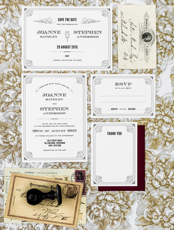 1920 The Great Gatsby No. 2 Wedding Set