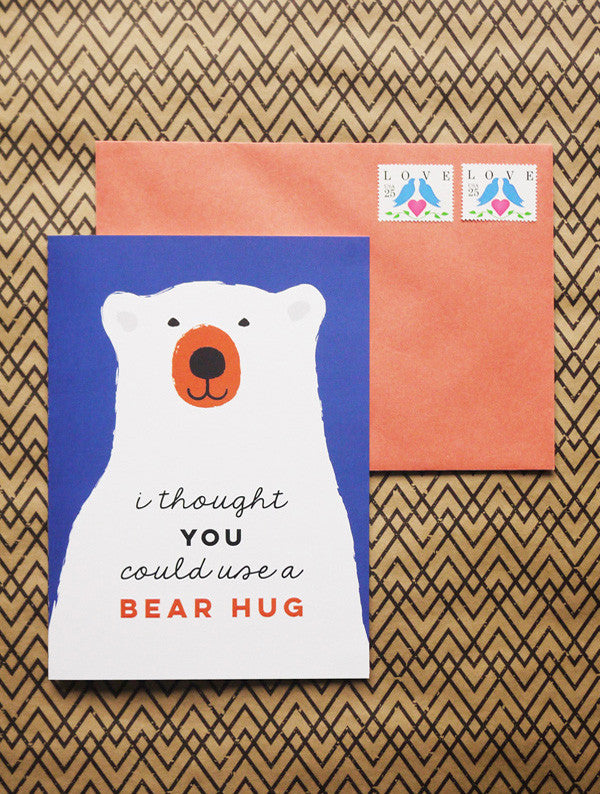Bear Hug Card - Free Download