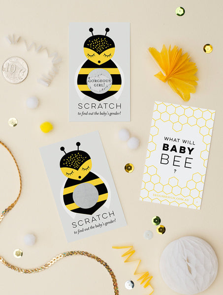 Bumble Bee Gender Reveal Cards