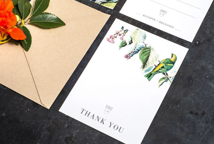 Botanical Bird Wedding Set
