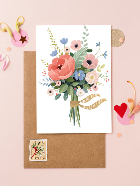 Flower Bouquet 2 - Will You Be My Bridesmaid