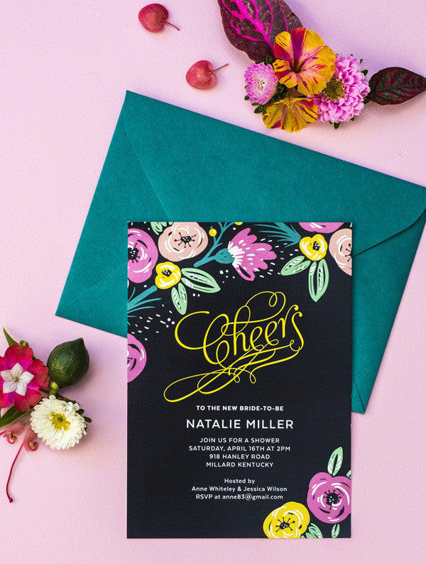 Cheers Bridal Shower Invitation