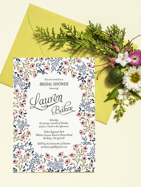 Rose Garden Bridal Shower Invitation
