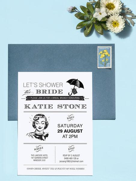 Let's Shower the Bride No. 1 Shower Invitation