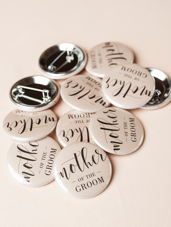 Bridal Wedding Party Button Pins