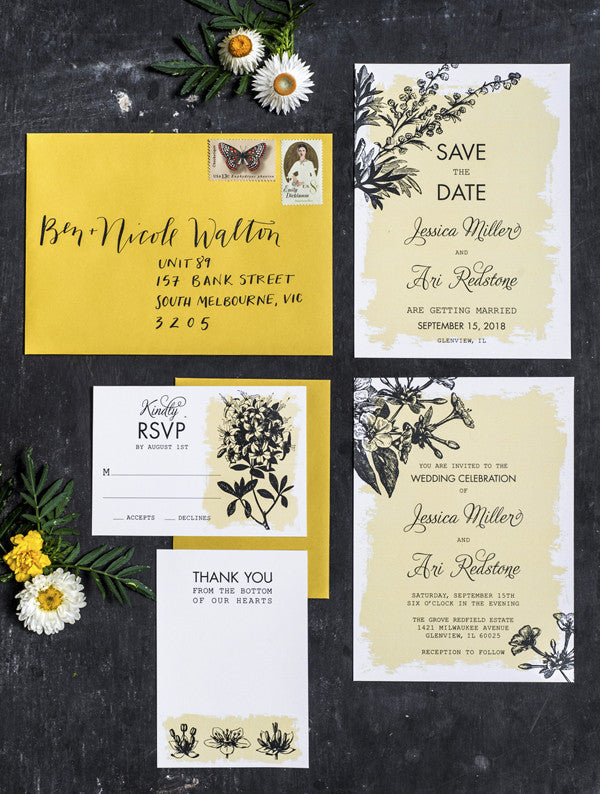 Botanical Flora Garden Wedding Set