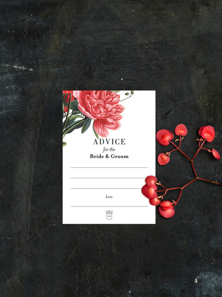 Colour Botanical Illustration Advice Card