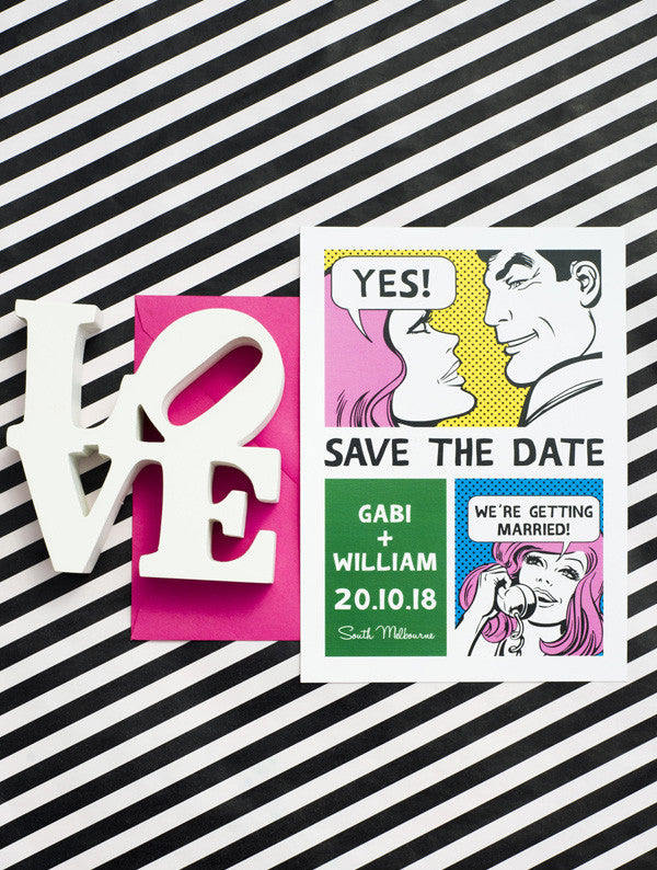 Comic Strip Save The Date