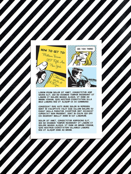 Comic Strip Information Card