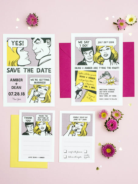 Comic Strip Wedding Set