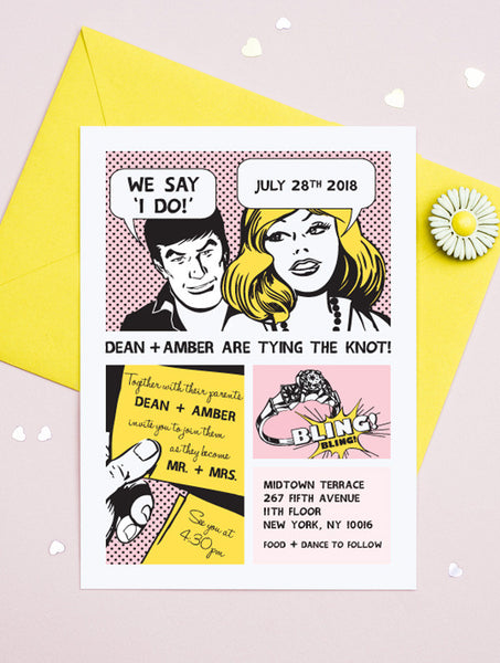 Comic Strip Wedding Invitation