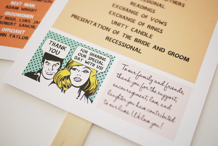 Comic Strip Wedding Program