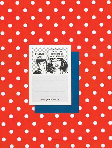 Comic Strip Thank You Card