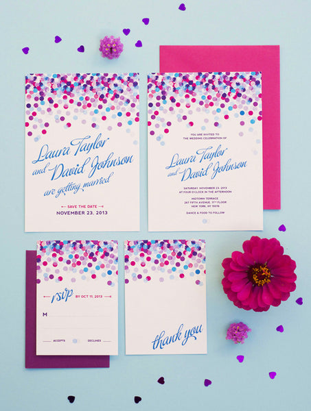 Confetti No. 2 Wedding Set