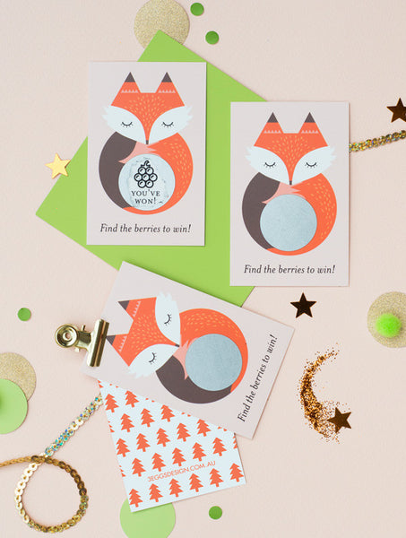 Woodland Fox Scratch Off Cards