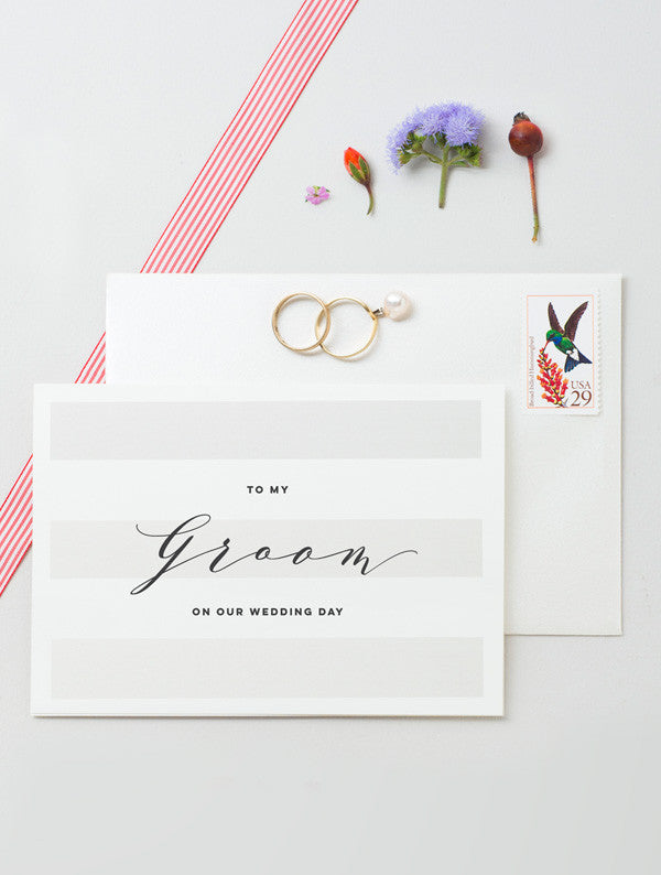 To My Bride To My Groom Cards - 2 Pack