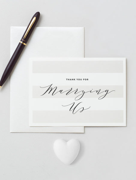 Thank You for Marrying Us Card