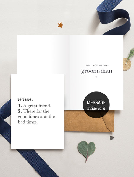 Be My Groomsman (Dictionary Definition)