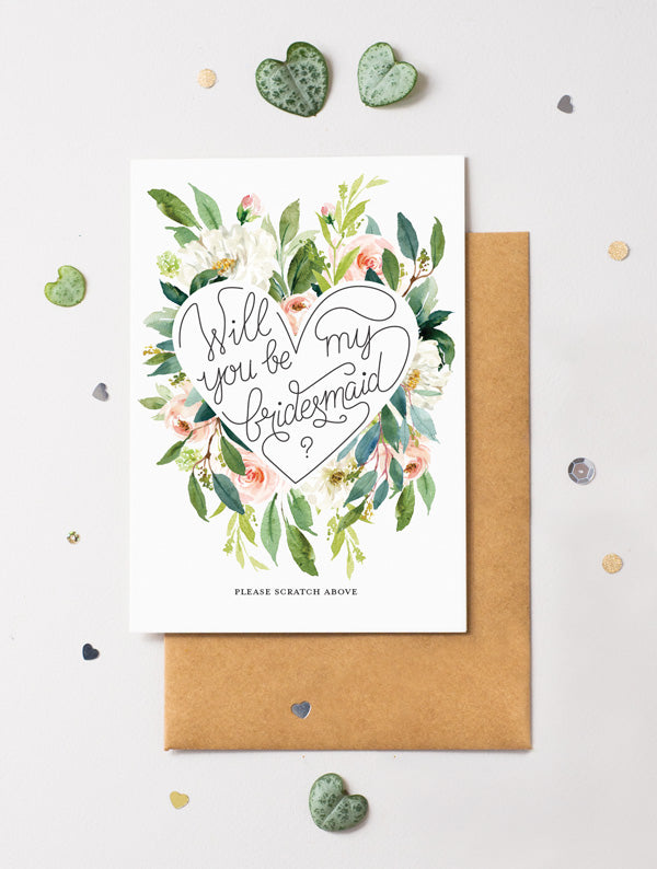 Be My Bridesmaid Scratch Off - Bloom 6