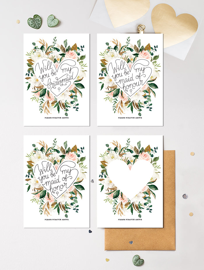 Be My Bridesmaid Scratch Off - Bloom 8