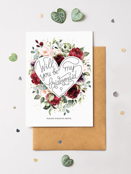 Be My Bridesmaid Scratch Off - Bloom 9