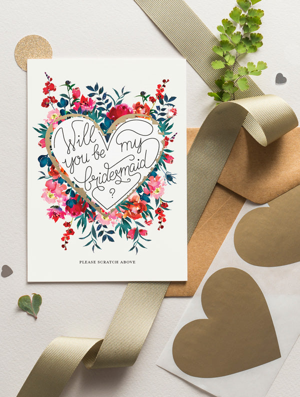 Be My Bridesmaid Scratch Off - Bloom 11