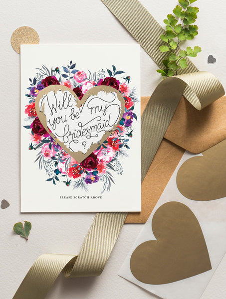 Be My Bridesmaid Scratch Off - Bloom 15