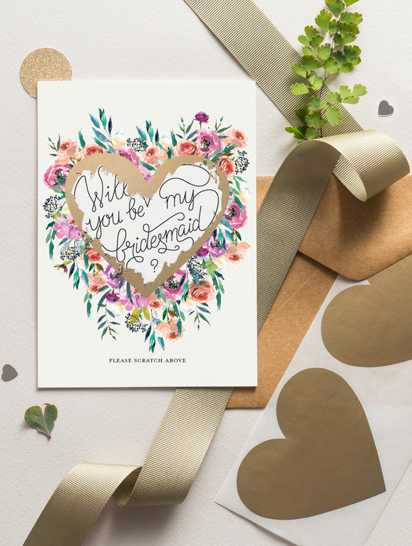 Be My Bridesmaid Scratch Off - Bloom 16