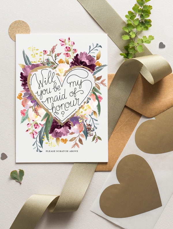 Be My Bridesmaid Scratch Off - Bloom 17