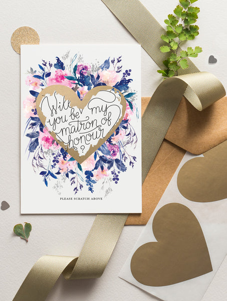 Be My Bridesmaid Scratch Off - Bloom 18