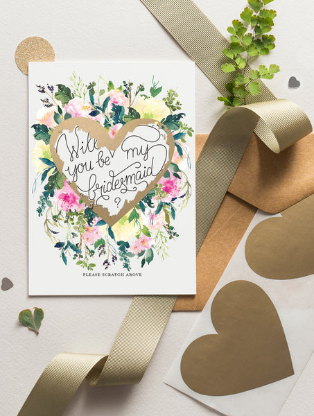 Be My Bridesmaid Scratch Off - Bloom 19