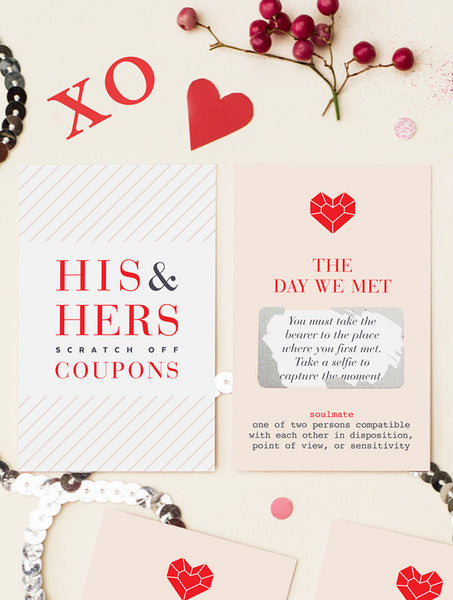 12 His & Hers Scratch Off Coupons