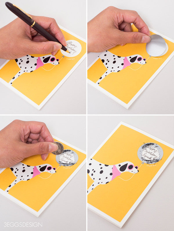 Dalmatian Dog Scratch Off Card