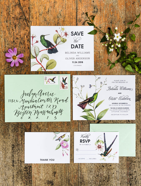 Hummingbird Wedding Set